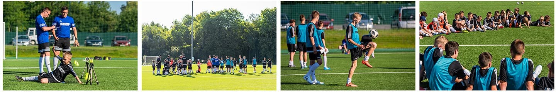 Obóz piłkarski Ukraina kolaż zdjęć