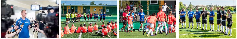 Obozy piłkarskie dla dzieci kolaż